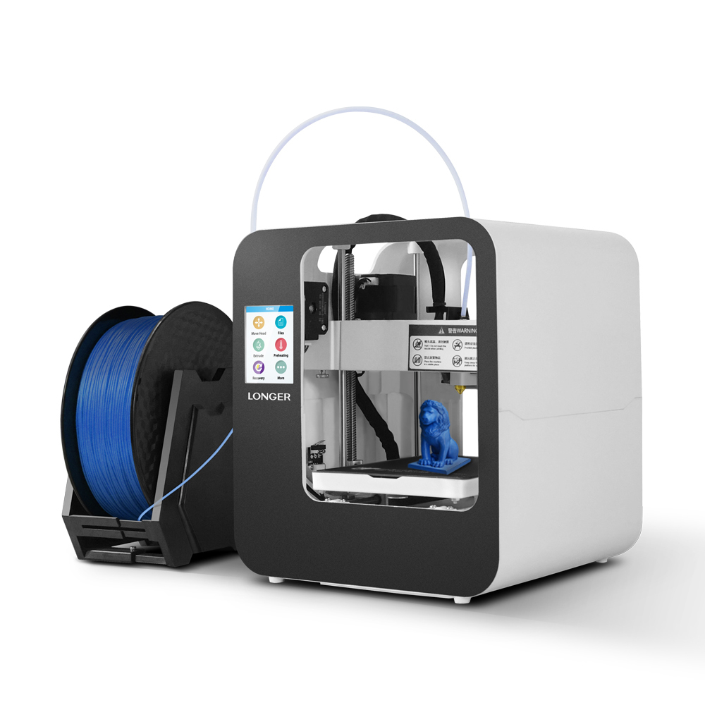 Longer® Cube2 Mini Desktop 3D Printer for Kids Education Support Power Off Continue Printing With 120mm *140mm*105mm Print Size/2.8-inch LCD Display/Magnetic Flexible Platform