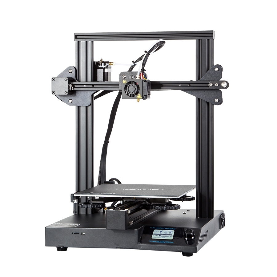 Creality 3D® CR20 DIY 3D Printer 220*220*250mm Printing Size With Upgraded Chip/Self-adhesive Platform/Resume Print/Off-line Print/Larger leveling nut/MK10 Extrusion