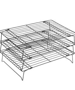 Bakeey Stainless Steel Three-layer Folding Baking Cooling Rack Biscuit Rack Drying Net Baking Appliance