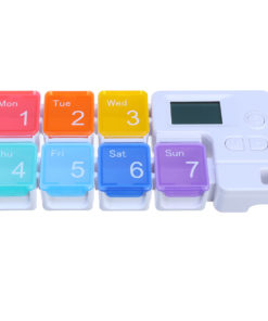 7 Grid Intelligent Pill Organizer Case with Electronic Timing Reminder