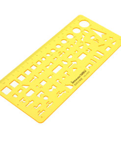 Water Supply and Drainage Design Drawing Template KT Soft Plastifc Ruler Drafting Stencil