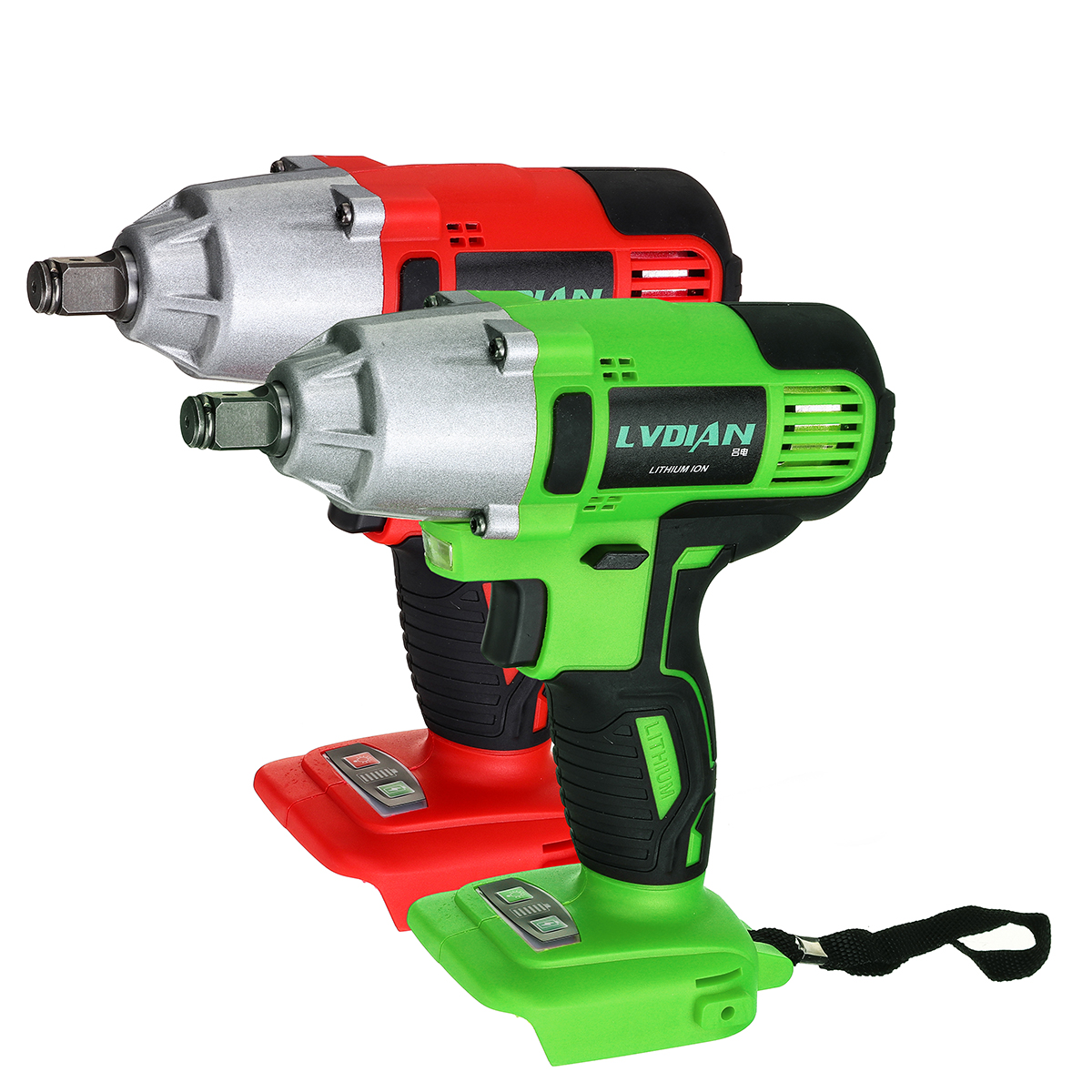 500 N.m Cordless Electric Impact Wrench with LED lights For DIY Home Building Engineering Car Repairing