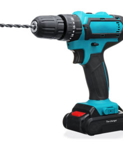 21V Cordless Electric Drill Rechargeable Screwdriver 2 Speed Woodworking Tool