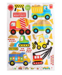 Wall Decals Construction Trucks Tractor Room Decor Art Sticker Colorful