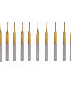 Drillpro 10pcs 0.7mm Carbide End Mill Cutter Titanium Coated Engraving Milling Cutter