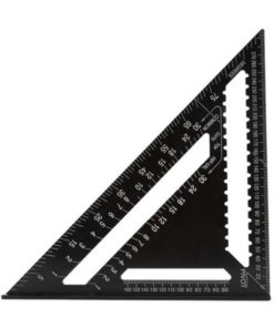 7/12inch Swanson Speed Square Metric Aluminum Alloy Triangle Angle Ruler Protractor Woodworking Square Layout Gauge Measure Tool
