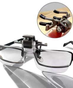 MG19156 Glasses Style Magnifier 2X PMMA Acrylic Magnifying Glass with Clip Loupe for Needlework Crafts Reading