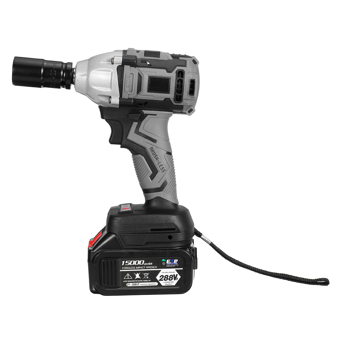288VF 800N.M Cordless Brushless Electric Impact Wrench Tool W/ LED Light