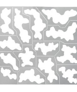 Stainless Steel 1/35 1/100 AJ0032 Spray Template Forest Camouflage Mould Tool