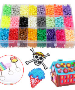 8400Pcs Fuse Water Sticky Perler Beads 2 Grid Pegboards DIY Art Craft Toys For Kids