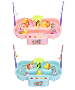 Electric Water Cycle Fishing Platform Game Interactive Educational Toy with Sound Lighting Effect for Kids Gift