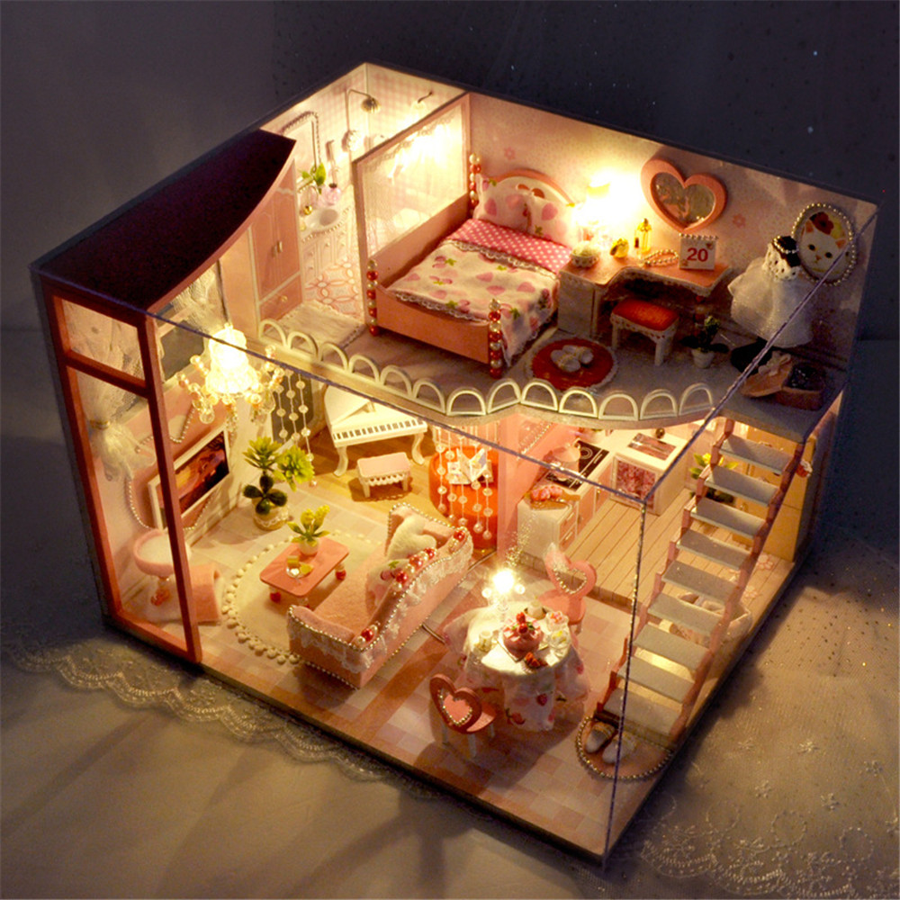 TIANYU TC40 Dream Loft Edition DIY Doll House Hand Assembled Model Creative Gift With Dust Cover