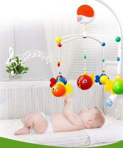 Multifunctional Baby Music Bed Bell Rotating Decoration Pendant for Children Education Toys