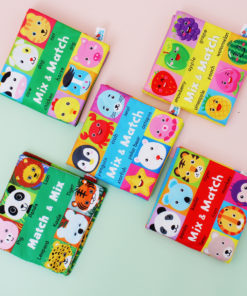 Animal Character Face Cognition Matching Cloth Book Baby Toddler Early Development Interactive Toys