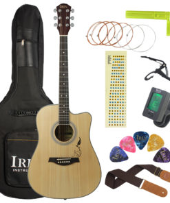 IRIN 41 Inch Spruce Panel with Patterned Corners Acoustic Guitar